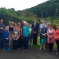 David with residents in Dan-y-Coed, Clydach