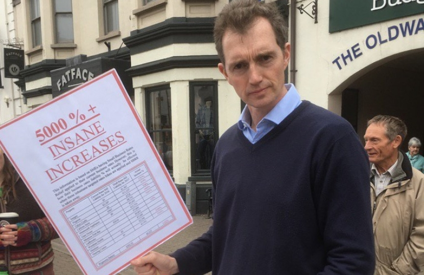 Business rates protest
