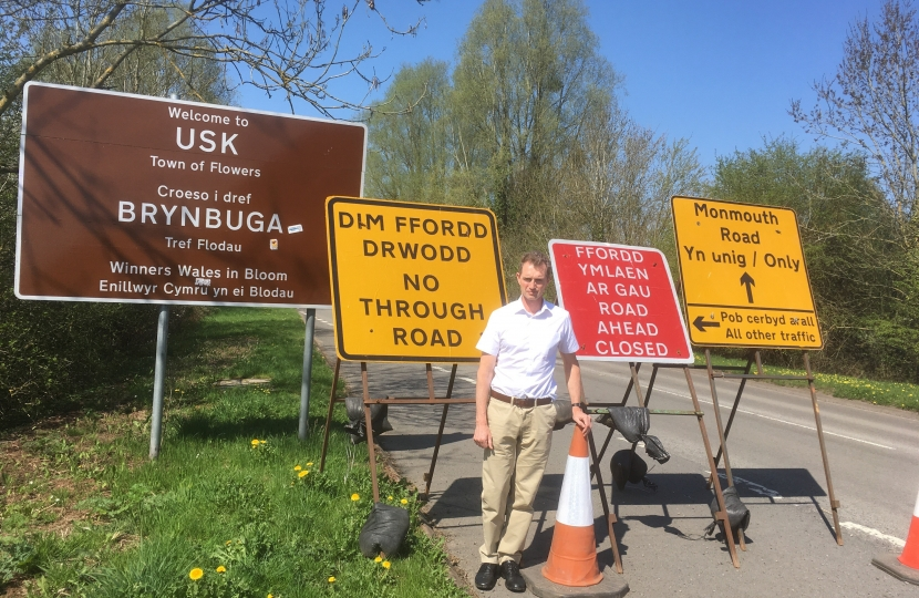 Usk road signs