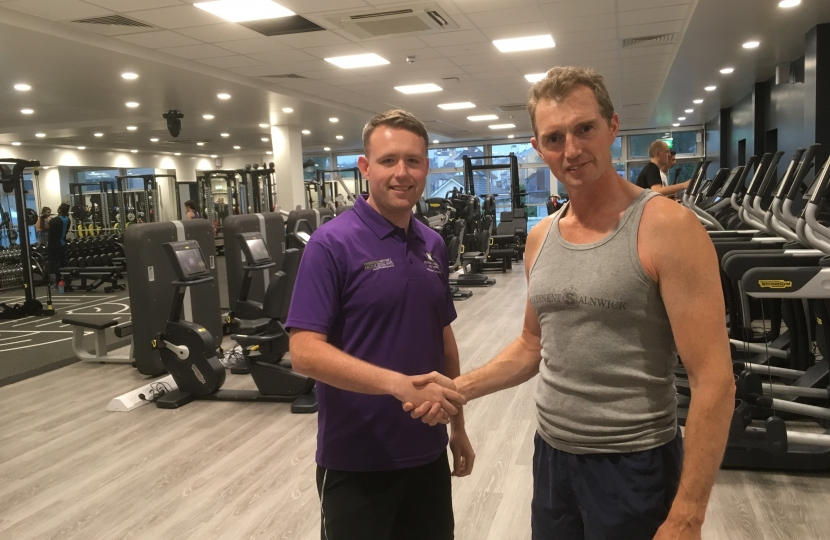 David joining Monmouth Leisure Centre