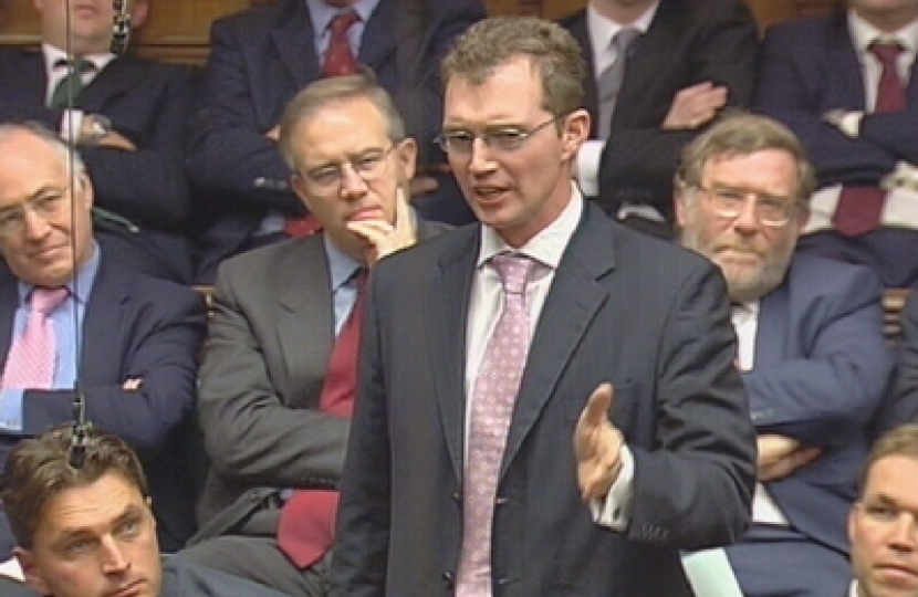 David speaking during PMQs