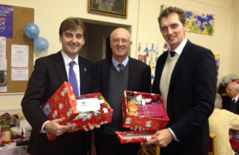 Nick, David and Barrie O'Keefe, Chairman of Monmouth Conservative Association